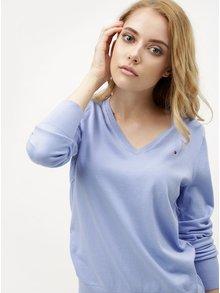 Svetlomodrý dámsky tenký sveter Tommy Hilfiger
