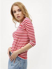 Bílo-červené dámské pruhované tričko Tommy Hilfiger