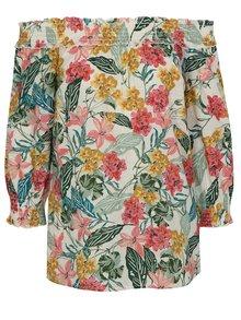 Ružovo-zelená blúzka s odhalenými ramenami Dorothy Perkins Tall