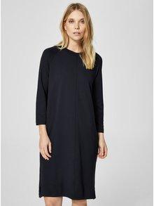 Tmavě modré šaty s dlouhým rukávem Selected Femme Janni