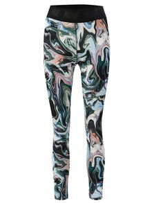 Leggings alb-verde cu model Nike