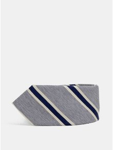 Šedá pruhovaná kravata Jack & Jones