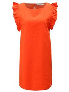 Červené šaty s volánovými rukávmi VILA Halah