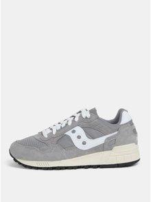 Pantofi sport gri cu detalii din piele intoarsa Saucony Shadow 5000 Vintage