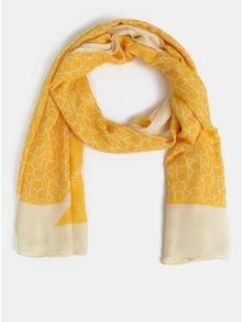 Žlutý dámský šátek Calvin Klein Jeans