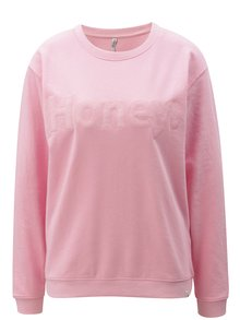 Bluza sport roz deschis cu broderie Blendshe Hon