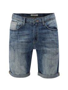 Pantaloni scurti albastri din denim cu model discret Blend