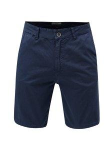 Pantaloni scurti albastru inchis chino cu model Blend
