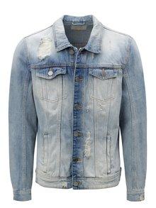 Světle modrá džínová bunda s potrhaným efektem Blend