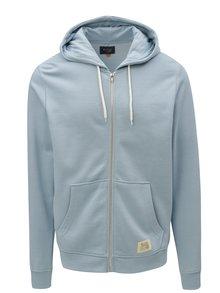 Světle modrá mikina na zip s kapucí Blend