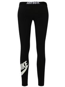 Čierne dámske legíny Nike Lggng logo