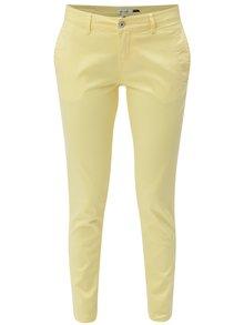Žluté chino kalhoty Blendshe Casual Aze