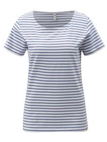 Tricou alb-albastru in dungi Blendshe Jemima