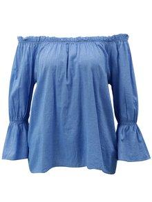 Modrá blúzka s odhalenými ramenami Blendshe Daisy