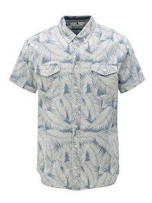 Modro-krémová vzorovaná slim fit košile Blend