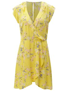 Rochie galben cu model floral Blendshe Kira