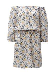 Krémové kvetované šaty Blendshe Jenn