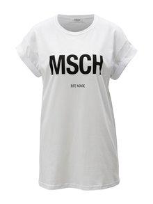 Bílé tričko s potiskem Moss Copenhagen