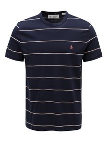Tmavě modré pruhované tričko Original Penguin Space