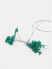 Zelený LED světelný řetěz ve tvaru palem Kaemingk