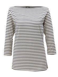 Modro-biele pruhované tričko s 3/4 rukávom ZOOT