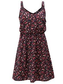 Růžovo-modré květované šaty na ramínka ONLY Bloom