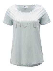 Svetlomodré tričko s potlačou Zizzi Fierce