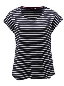 Tmavomodré pruhované tričko Zizzi Mina