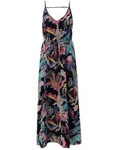 Rochie maxi albastru inchis cu model florala si bretele ONLY Malibu