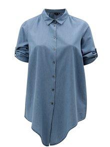 Modrá košeľa s 3/4 rukávom Zizzi Deni