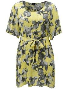 Žlté kvetované šaty Zizzi Dora