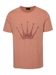 Starorůžové pánské tričko s potiskem Junk de Luxe