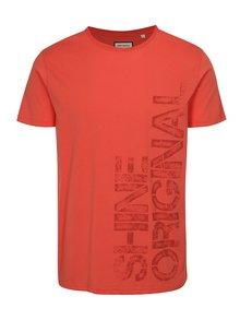 Červené tričko s potlačou Shine Original