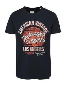 Tmavomodré tričko s potlačou Shine Original