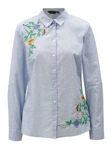 Svetlomodrá košeľa s výšivkou Dorothy Perkins