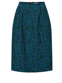 Petrolejová vzorovaná sukňa Fever London Josephine