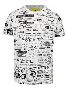 Tricou alb cu imprimeu negru Shine Original