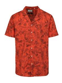Červená vzorovaná košile s krátkým rukávem Shine Original