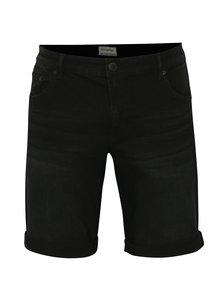Čierne rifľové tapered fit kraťasy Shine Original
