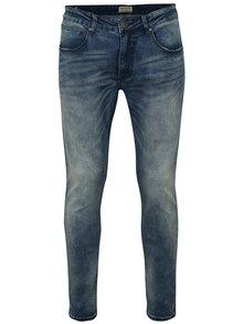 Modré skinny fit džíny s vyšisovaným efektem Shine Original