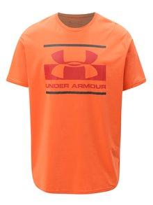 Oranžové pánske funkčné tričko s potlačou Under Armour