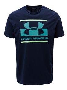 Modré pánske funkčné tričko s potlačou Under Armour
