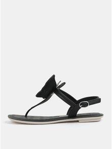 Černé sandály s aplikací motýla Grendha Sense II