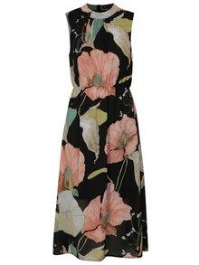 Rochie neagra cu model floral Mela London
