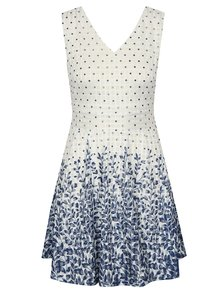 Rochie albastru-alb cu model Mela London