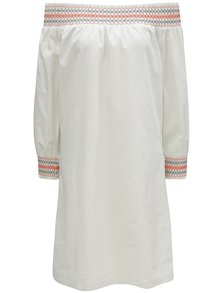 Biele šaty s odhalenými ramenami VILA Adiniana