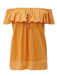 Oranžový top s odhalenými ramenami a čipkou Blendshe Karodal