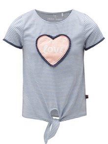Modré holčičí pruhované tričko s uzlem 5.10.15.