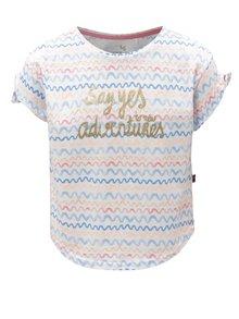 Bílé holčičí tričko s motivem vln a potiskem 5.10.15.