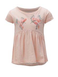Svetloružové dievčenské tričko s potlačou 5.10.15.